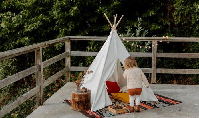Tipi-Zelt bzw. Spielzelt für Kinder